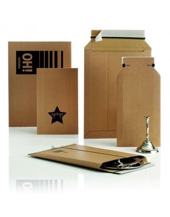 100 Bolsas de cartón ondulado 150x250 mm