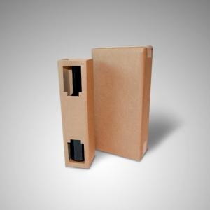 Caja botellas con interior de protección